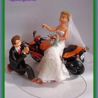 Noivos e moto