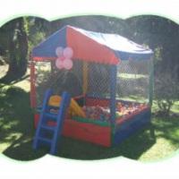 Locação de piscina de bolinha,cama elástica e balão pula pula.