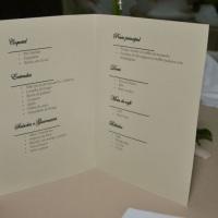 Programação do evento em cada mesa