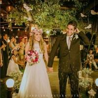 Casamento Raquel e Fernando - Bouquet, coroa e lapela