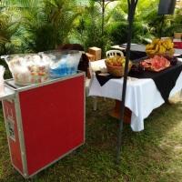 Água, Mate, Refrigerante e Frutas