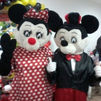 Aluguel Locação Vendas Personagens Vivos Mickey Minnie