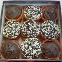 Cupcake de Fubá com Chocolate