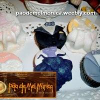 Cupcakes de Pão de Mel Noivos