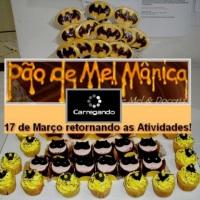 Pirulito de Chocolate, Pão de Mel, Cupcakes Batmam