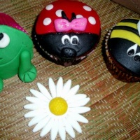 Cupcakes de Pão de Mel Jardim