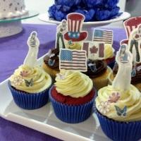 Topper comestível para decoração de cupcakes e docinhos