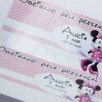 Tags personalizados em papel fotográfico