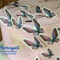 Papel Arroz 3D borboletas