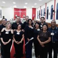 Equipe da Pastoral de Noivos da Paróquia Nossa Senhora Rainha da Paz em 2019