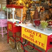 Carrinhos de Algodão Doce, Pipoca, e Cascata de Chocolate