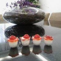 verrine de leite ninho com cereja