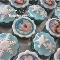 Cupcakes decorados - Frozen