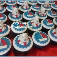 Cupcakes para Chá de Fraldas - Ursinho Marinheiro