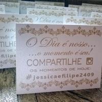Plaquinhas de Instagram Conviteria Pedacinho de Festa