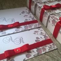 Convite Love e Caixas Padrinhos Padronizadas Conviteria Pedacinho de Festa