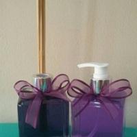 Sabonete líquido e aromatizador de ambientes