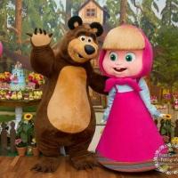 Masha e o Urso Personagem vivos