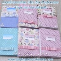 Bloquinhos de anotações - ótima opção para presentear professores ou usar como lembrancinhas para ch