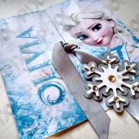 Convite Frozen.