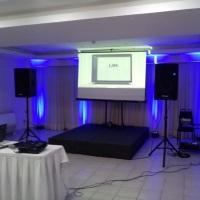 Sonorização e Iluminação para evento corporativo