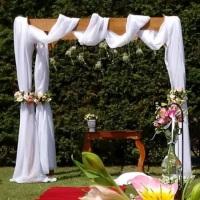 Pergolado , ideal para um casamento campestre