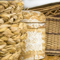 cestaria e peças rústicas