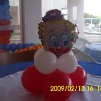 Arranjo de mesa de balão