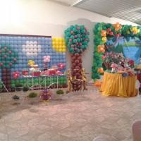 cenário em balões