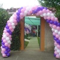 Balão arco rosa