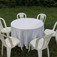 mesa red.toalha branca