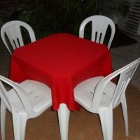 mesa quad.c/toalha verm