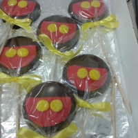 Pirulito de chocolate belga Mickey