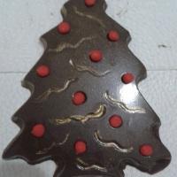 chocolate belga árvore de natal