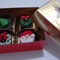 caixa de bombons decorados para natal