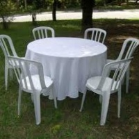 Mesas, Cadeiras, Toalhas e Cobre mancha