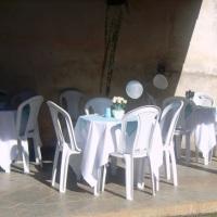 Mesas, Cadeiras Toalhas e cobre manchas...