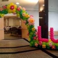 Facha de balões jardim flores