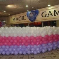 festas no magic games decoração