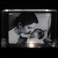 Placa de Cristal 15cmx10cmx3cm