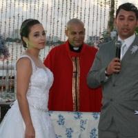 Casamento de Felipe e Nathali celebrado pelo Rev. Markos Leal em 8 de novembro de 2014 no Catamaran