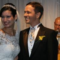 Casamento de Alexandre e Bruna celebrado pelo Rev. Markos Leal em 18 de outubro de 2014 no Di Branco