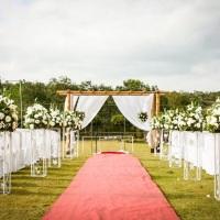 Casamento realizado no gramado.