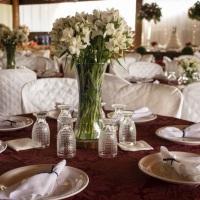 vasos de vidro - centro de mesa  aluguel