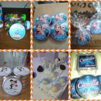 Personalização de: latinha, tubete, marmitinha, caixinha, pirulito, baton, refrigerante, agua, etc..