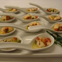 Ceviche de Camarão em Mini Colheres
