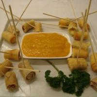Croustillant de Brie com Parma e Geléia de Damasco