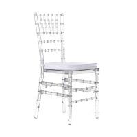Cadeiras Tiffany de Crystal com almofadas brancas