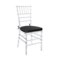 Cadeiras Tiffany de Crystal com almofadas preta
