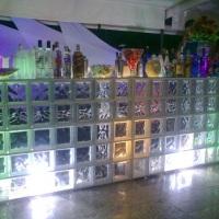 open bar tijolo de vidro